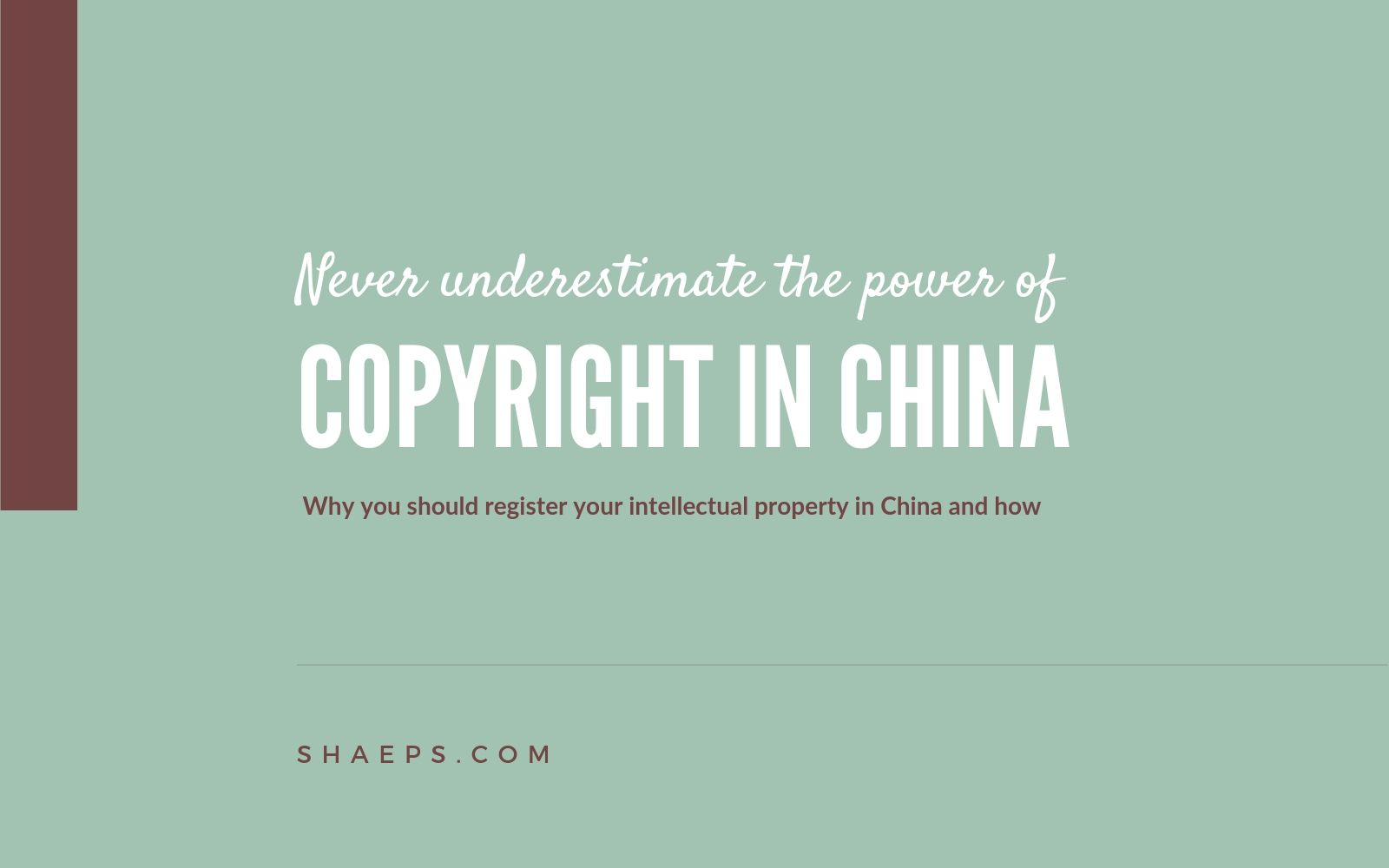 200 bucks and 31 days to get the power of copyright in China